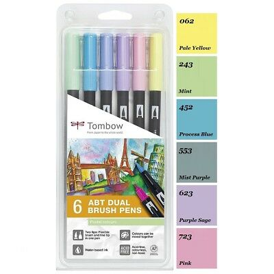 Tombow ABT Dual Brush Pen 6er-Set Pastellfarben