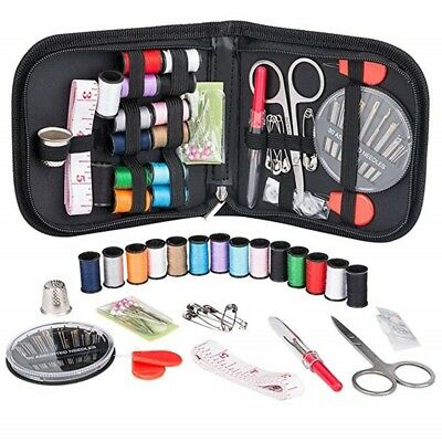 Mini Home Travel Thread Threader Needle Tape Measure Scissor Sewing Kit