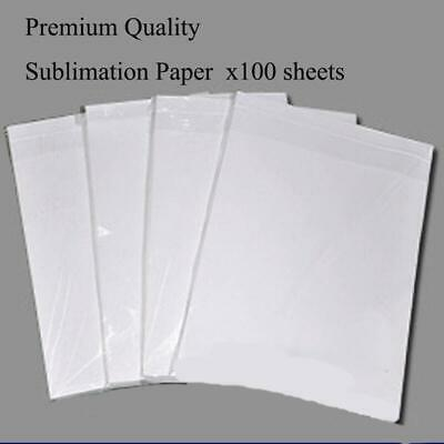 A4 Sublimation Heat Press Transfer Paper 100 Sheets For T-Shirt Porcelain Cup