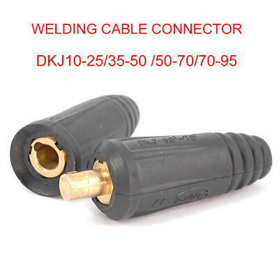 Dinze Dinse Type Welding Connectors - Cable Plug (Male) or Socket (Female) New