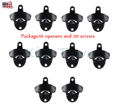 10x Hot Wall Mount Opener Bar Club Wine Beer Soda Glass Cap Bottle Open Tool