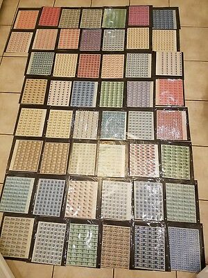 UNCIRCULATED POSTAGE STAMPS 1950's 1960's  HUGE LOT  98 SHEETS 50-70 COUNT