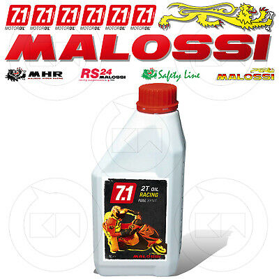 1 Litro Olio Malossi 7.1 2T Racing 100% Sintetico Miscela Fantic Big Wheel 50 2T