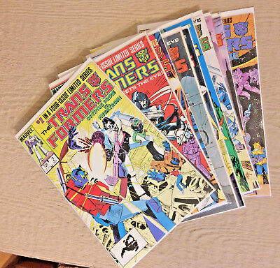 TRANSFORMERS #s 2 9.4, 3 9.4 ,4, 5, 7, 8, 9, 35 1ST PRINTS 3 OTHER LATER ISSUES