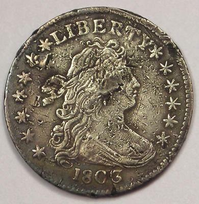 1803 Draped Bust Dime 10C Coin - XF Details (Corrosion) - Scarce Classic Coin!