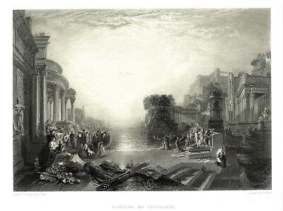 The Decline of the Carthage - After Joseph Mallord Wiliiam Turner, RA  - c1860