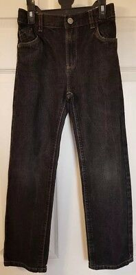 Boys Black Jeans. Adjustable Elasticated waist. 8 Years. TU. Excellent Condition