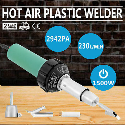 1500W Hot Air Torch Plastic Welding Gun Welder Pistol&2x Speed Nozzle&Roller Kit