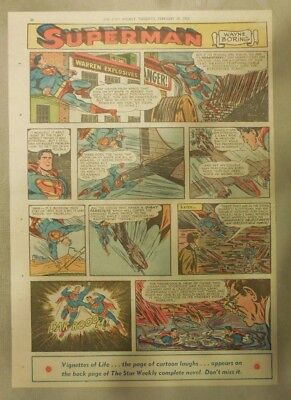 Superman Sunday Page #696 by Wayne Boring from 3/1/1953 Tabloid Page Size Rare