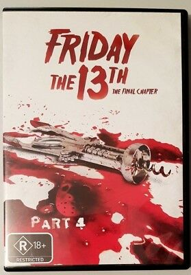 Friday The 13th Part 4: The Final Chapter (DVD) **BRAND NEW** (Region 4)