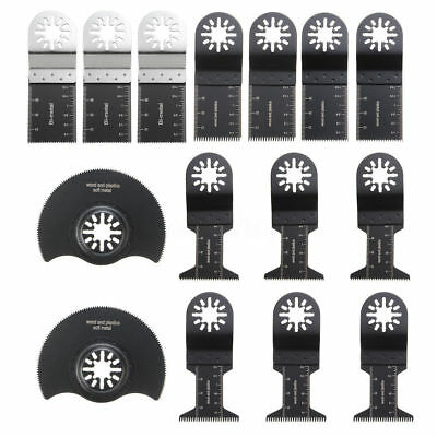 15 Pcs Oscillating Multi Tool Saw Blades For FEIN MULTIMASTER RIDGID RYOBI BOSCH
