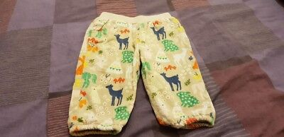 John Lewis baby girls trousers. Woodland animals. Size 3-6 months