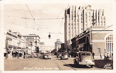 Yakima Washington Real Photo Postcard RPPC 1944