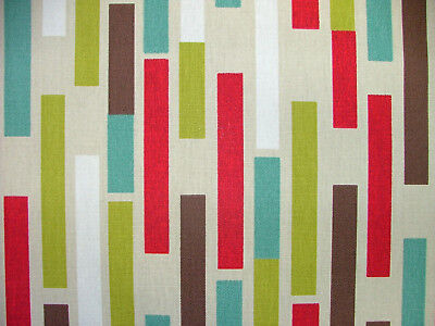 Retro Union Jack Cotton Material By Prestige Funky Upholstery Fabric