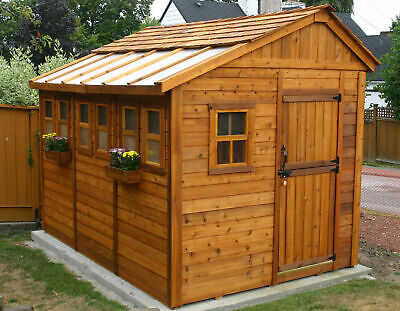 Outdoor Living Today Sunshed 8 ft. W x 12 ft. D Solid Wood Storage Shed