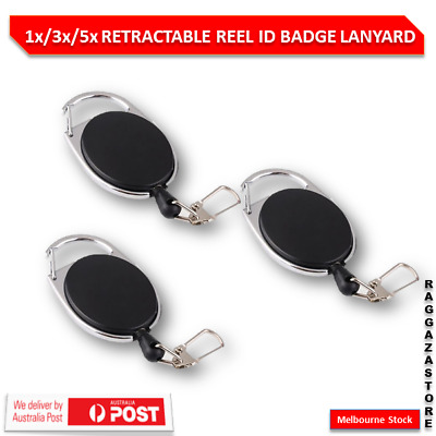 1x/3x/5x Retractable Lanyard Key Chain Tag Key Card Holder Belt Clip HS1030