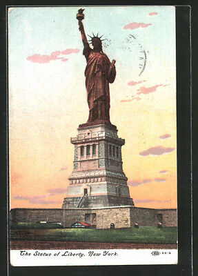 Ansichtskarte New York, the Statue of Liberty 1910