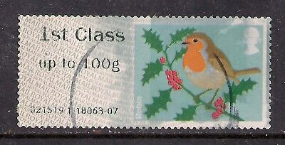 GB 2012 QE2 1st up to 100 gms Post & Go Christmas Robin ( T730 )