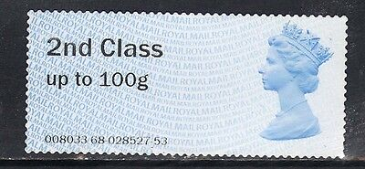 GB 2014 QE2 2nd Class up to 100 gms Post & Go Unused no gum ( T139 )
