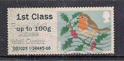 GB 2012 QE2 1st up to 100 gms Post & Go Christmas Robin ( T715 )