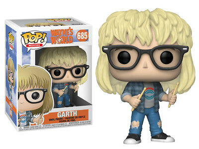 Funko Pop! Movies: Wayne's World GARTH #685 *DAMAGED BOX*