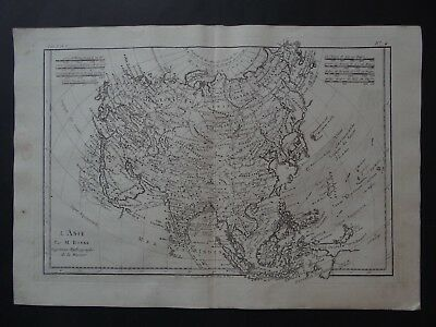 1780 Rigobert Bonne  Atlas map  ASIA - L'ASIE - China India Japan Indonesia