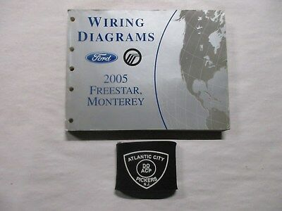 2005 ford freestar mercury monterey electrical wiring diagrams service  manual