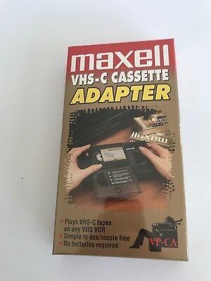 Maxell VHS-C Cassette Adapter VP-CA VHS Video Tape Player Converter. NEW