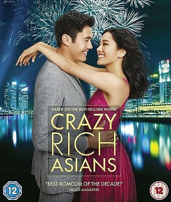 Crazy Rich Asians  Blu-ray 2018 Region Free SINGLE DISC ONLY !!