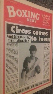 Jan 23Rd   1987  Boxing News  Terry Smith/herol Graham -Charlie Boston