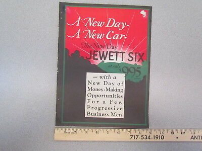 Vintage 1926 Jewett Six (6) car brochure / 1920s sales literature from magazine?