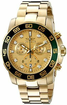 Invicta Men's Pro Diver Analog Display Swiss Quartz Gold-Tone Watch 21554