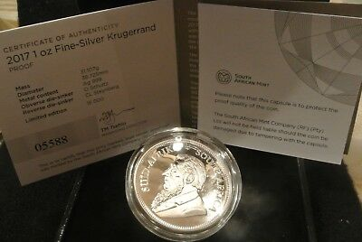 2017 50th ANNIVERSARY SILVER  PROOF KRUGERRAND - OGP - #5651