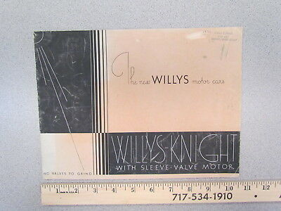 Vintage 1931 Willys-Knight sleeve valve car catalog / 1930s sales brochure