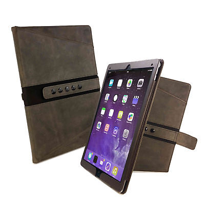 """TUFF LUV Personalised TriAxis Western Leather Case Cover for iPad Pro 10.5"""" -Brn"""