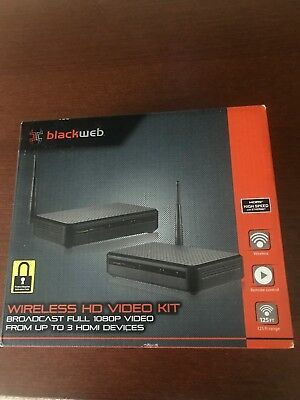 New Blackweb Wireless HD Video Kit (BWC17AV001) 1080P From Up to 3 HDMI Devices