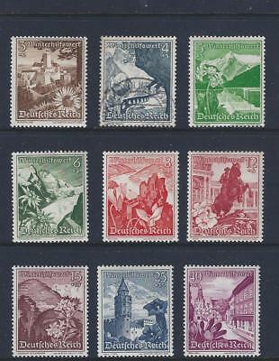 3rd REICH 1938 WINTER CHARITY SET OF 9 MH/*