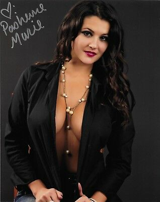 Pashence Marie Webcam Glamour Model Signed Autograph 8X10 Photo