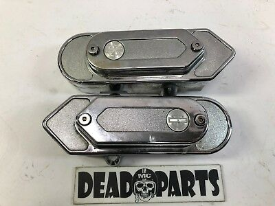Harley Dyna fxd rear swingarm axle covers caps