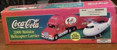 Coca cola Speedway 2000 Holiday Helicopter Carrier Semi In Box