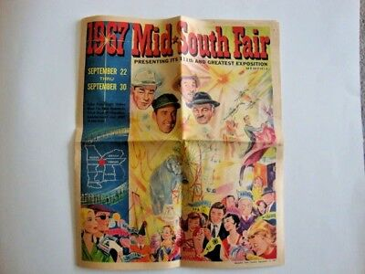 1967 Mid South Fair Presenting Its 111th and Greatest Exp Memphis Tn  Roy Rogers
