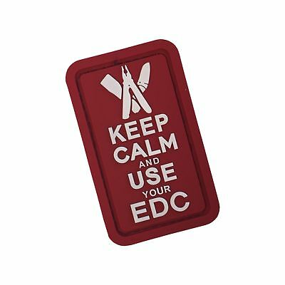 Keep Calm & Use Your EDC 3D Rubber Patch ROT