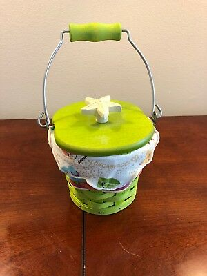 Longaberger Collectors Club small pail lime green combo