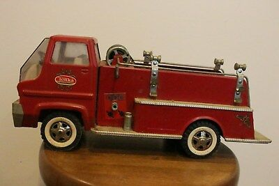 VINTAGE 1960's TONKA PUMPER GAS TURBINE FIRE TRUCK PRESSED STEEL TOY