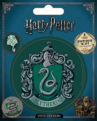 Harry Potter - Slytherin - Stickerset Set 5 Sticker Aufkleber - ca. 10x12,5 cm