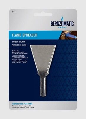 """Bernzomatic Flame Spreader Produces broad flat flame Fits 1/2"""" Burn Tip 330195"""