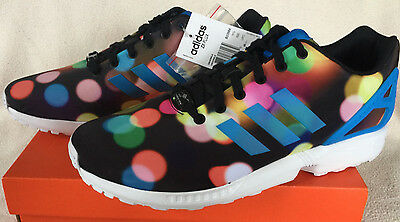 9d9e289fb Adidas ZX Flux B23984 Blk Light Dots Torsion Marathon Running Shoes Men s  12 new