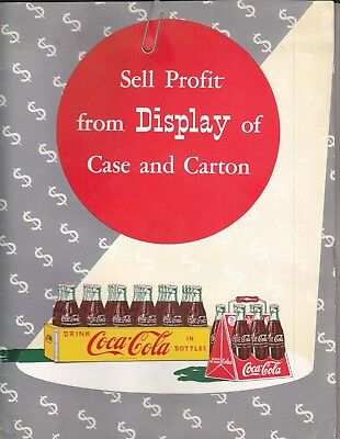 Sell Profit From Display Of Case And Carton Folder & All Inserts  1950S