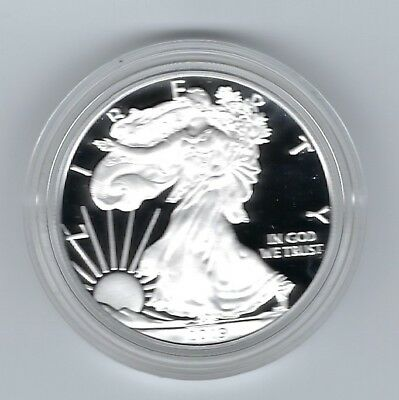 USA: American Eagle One Ounce Silver Proof Coin 2019, Silber