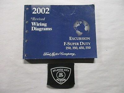 2002 Ford F-Super Duty Excursion 250 350 450 550 Revised Wiring Diagrams Manual